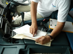 車検証と車輌の照合確認